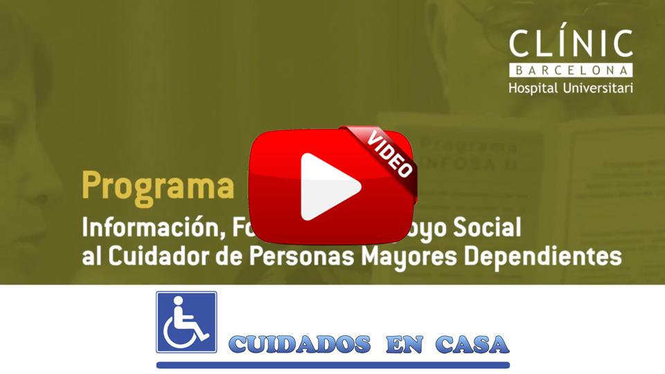 Información, formación y apoyo social al cuidador de personas mayores dependientes